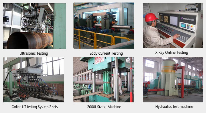 ASTM A106 GRB seamless steel pipe Inspection Equipment