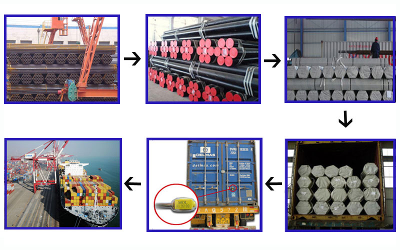 ASTM A210 seamless steel pipe transport